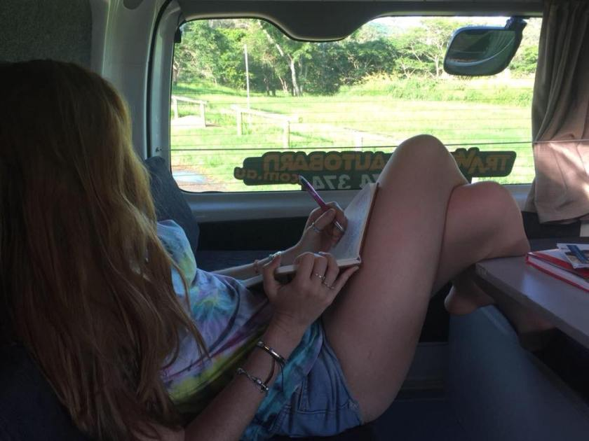 Campervan travels in Australia Writing Backdrops