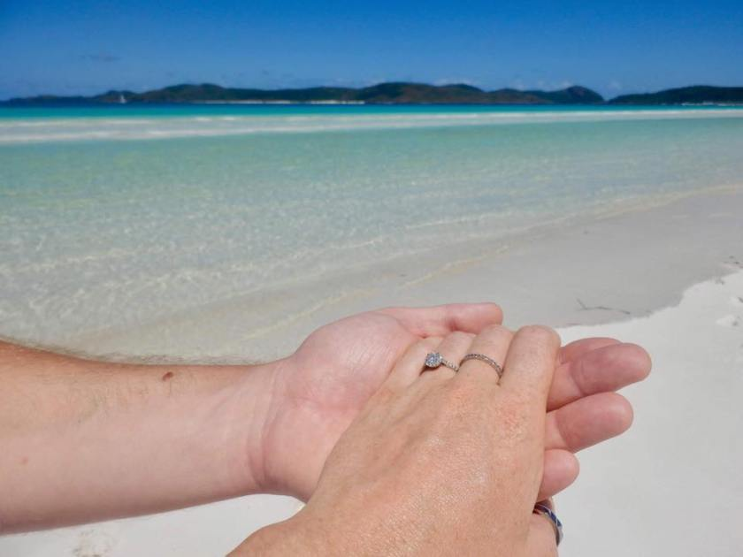 Whitehaven Beach - our first hour engaged