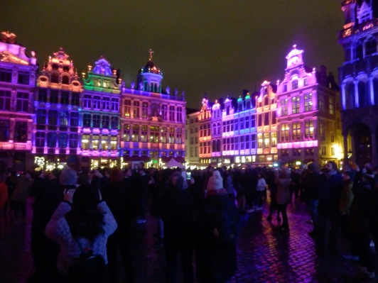 Light Show at Grand Palace Brussels