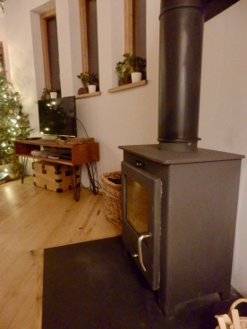 Wood Burning Stove at The Buzzardry